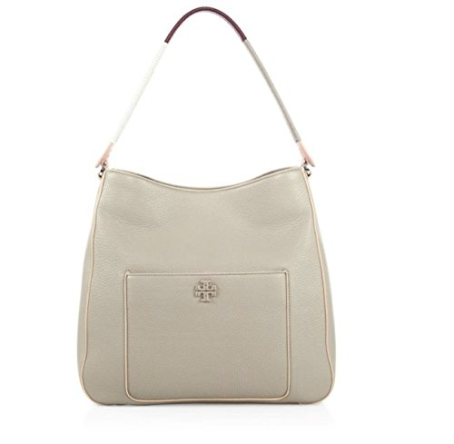 Tory Burch Berkeley Leather Hobo French Grey Tote