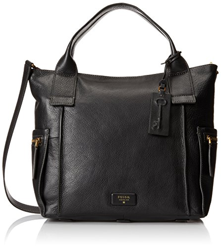 Fossil Emerson Satchel Bag, Black, One Size