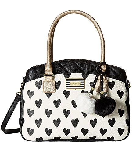 Betsey Johnson Women's Ikat Heart Triple Compartment Large Satchel
