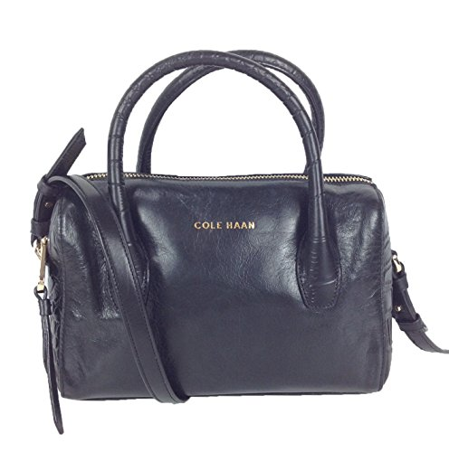 Cole Haan Isabella II Leather Mini Satchel, Black