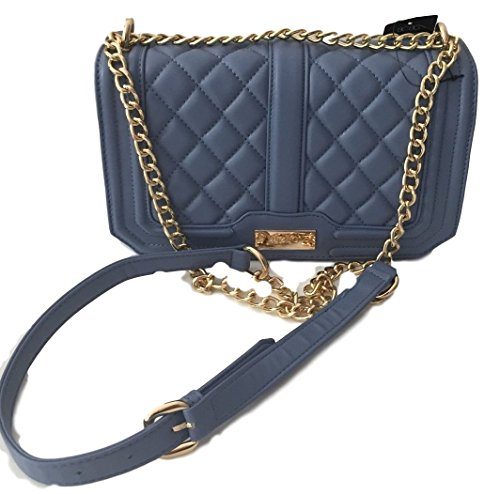 BCBG Paris Infinity Blue Quilted Chain Shoulder / Cross Body Bag B-0114