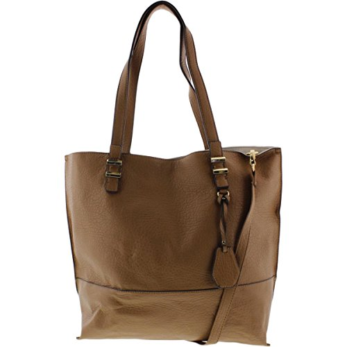 Jessica Simpson Womens Hanne Faux Leather Colorblock Tote Handbag