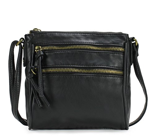 Scarleton Mini Trendy Front Dual Zipper Crossbody Bag H1907