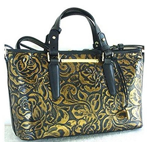 Brahmin Mini Asher Gold Rousseau Top Handle Tote Bag