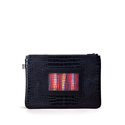 GEMA Vegan Designer evening Clutch, Ipad size ,Luxury Non Leather Handbag for Women