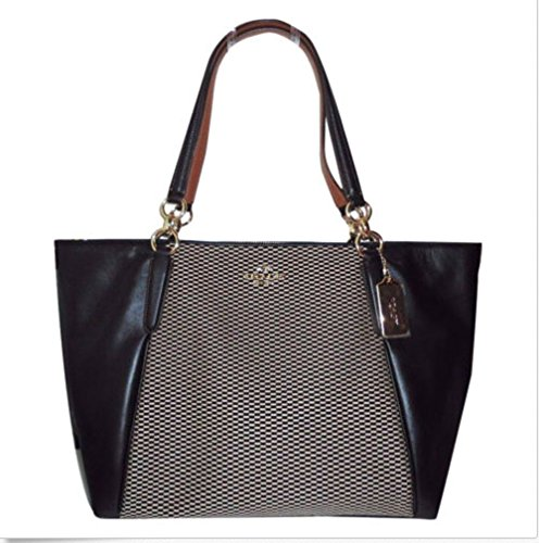 Coach Milk/Black Ava Tote Bag F57246
