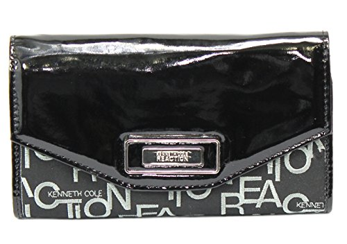 Kenneth Cole Reaction Handbag, Glaze Embroidered Logo Flap Clutch Wallet