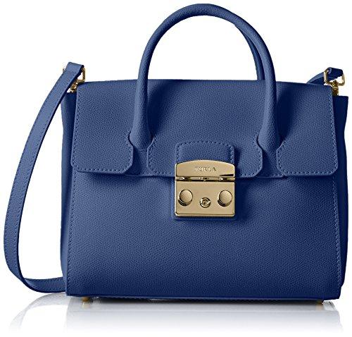 Furla Women's Furla Metropolis Cobalt Blue Leather Handbag Blue