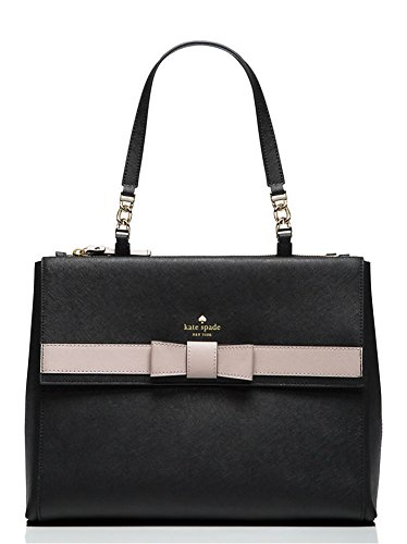 Kate Spade New York Kirk Park Mason Tote, Black/Mousse Frosting