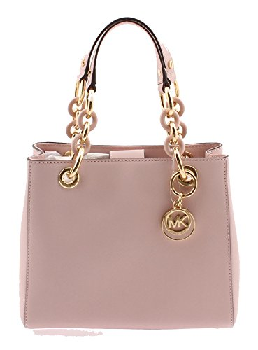 Michael Kors Cynthia Small North South Satchel leather Blossom/Gold