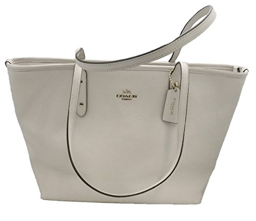 Coach Crossgrain City Zip Top Tote – Chalk