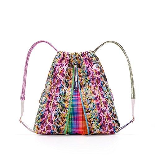 MISHI Vegan Designer Backpack for Women , Luxury Non Leather Handbag. Multicolored