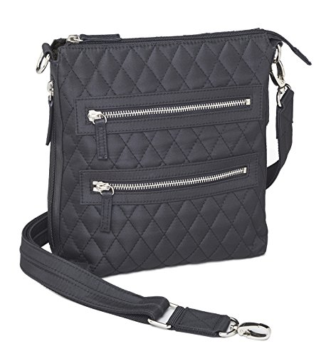 Concealed Carry Gun Purse – Concealment Quilted Crossbody Sac by Gun Tote'n Mamas