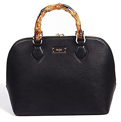 BCBG Top Handle Bamboo Story Bag, Black