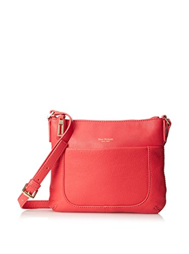 Isaac Mizrahi Womens Fashion Designer Handbags Lileth Leather Crossbody Bag Watermelon Red