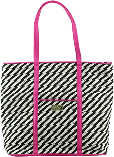 Betsey Johnson Luv Betsey Tote, Black/ White