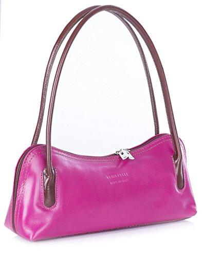 Big Handbag Shop Womens Real Leather Small Satchel Clutch Evening Shoulder bag