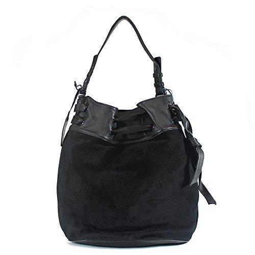 Cole Haan Swan Hobo Bag, Black Suede