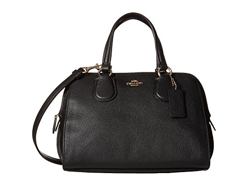 COACH Women's Pebbled Leather Mini Nolita Satchel LI/Black Satchel