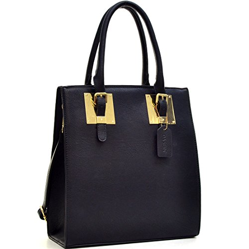 Dasein Structured Faux Leather Tote