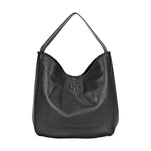 Tory Burch Marion Hobo Slouchy Tote Bag – Black