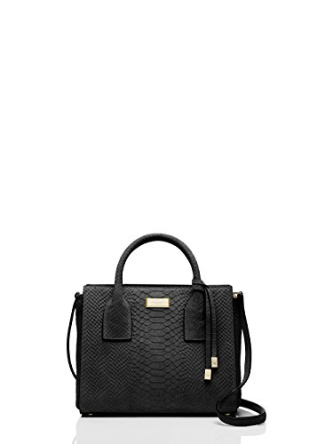 Kate Spade Elsie Street Exotic Small Meriwether Black/gold Satchel