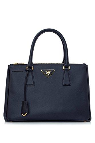 Prada Saffiano Leather Tote Handbag Baltic Blue