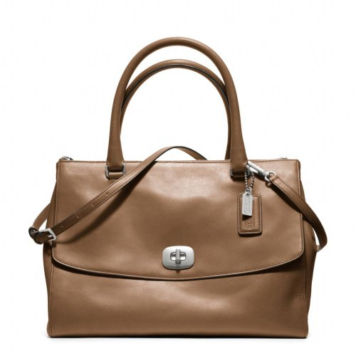 Coach Legacy Brown Harper Pinnacle Leather Large Satchel
