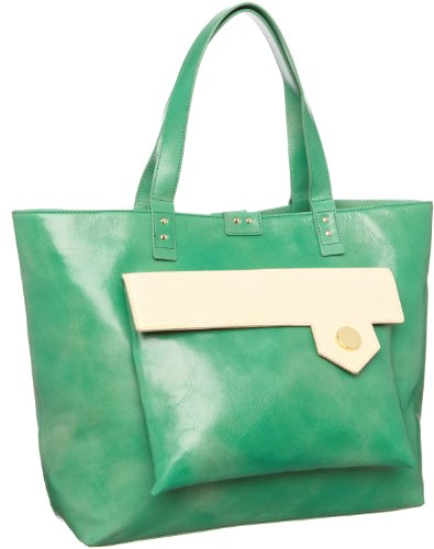 Orla Kiely Pointed Pocket Leather Tote