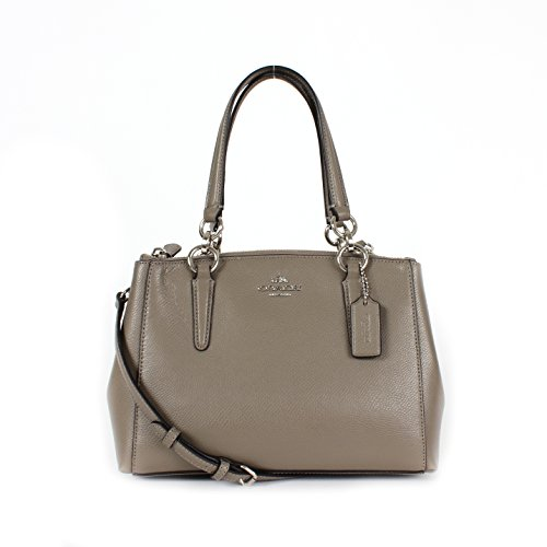 Coach F36704 Crossgrain Leather Mini Christie Carryall, Fog