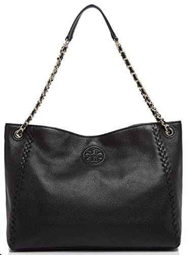 Tory Burch Marion Chain-Strap Slouchy Tote Bag, Black