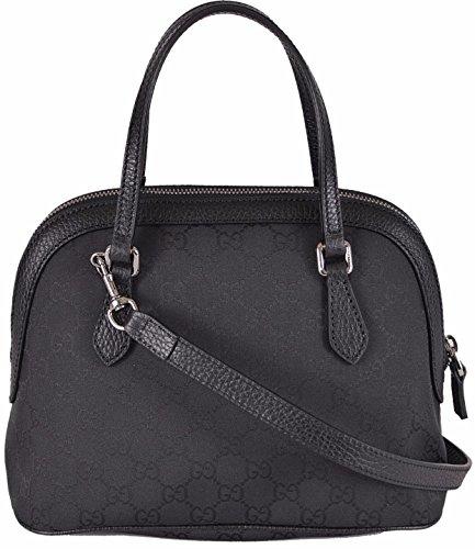 Gucci Women's Black Nylon GG Guccissima Convertible Mini Dome Purse