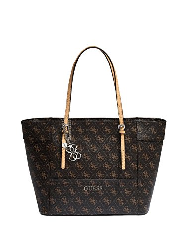 GUESS Delaney Small Classic Tote-Brown