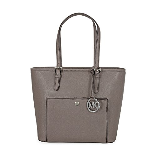 Michael Kors Jet Set Saffiano Medium Top Zip Tote – Cinder