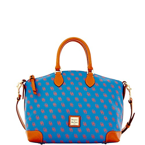 Dooney & Bourke Gretta Signature Satchel Blue/Red