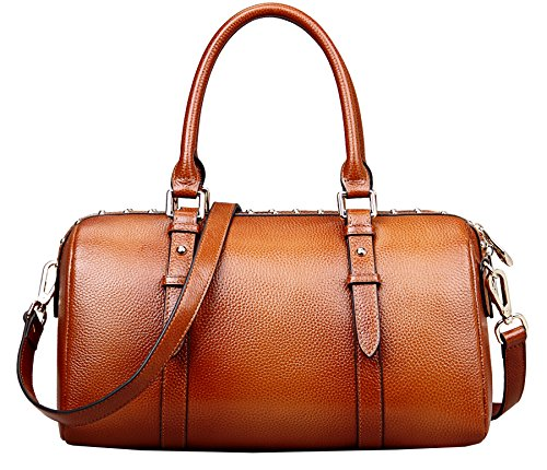 Heshe® Hot Sell Barrel-shaped Tote Top Handle Shoulder Cross Body Bag Satchel Purse Handbag for Women OL