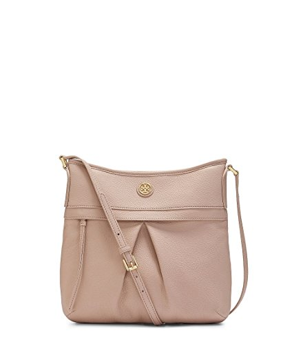 Tory Burch Leather Swingpack Shoulder Bag, Light Oak