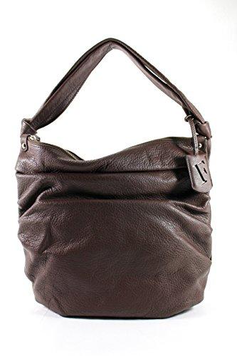 Furla Womens Shoulder Bag Brown Leather
