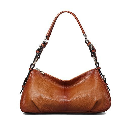 Kattee Ladies' Vintage Leather Hobo Shoulder Handbag