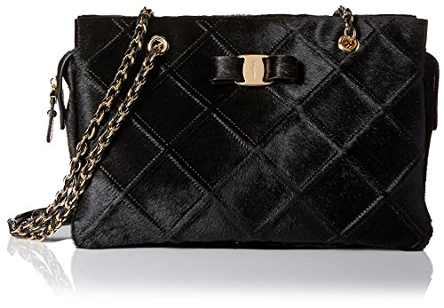 Salvatore Ferragamo Women's Quilted Shoulder Bag, Nero