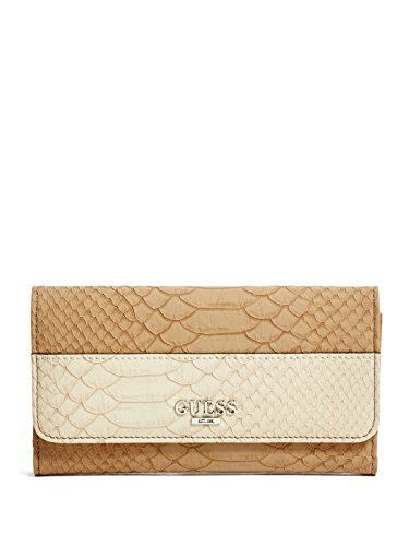 GUESS Women's Sereba Snake-Embossed Slim Wallet