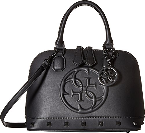 GUESS Women's Korry Small Dome Satchel Black Satchel