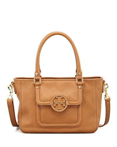Tory Burch Amanda Mini Satchel Leather Handbag Bark