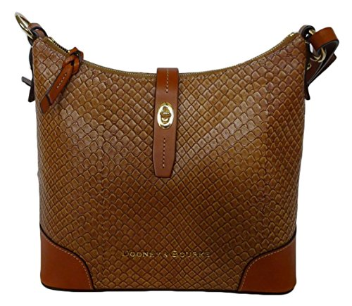 Dooney & Bourke Claremont Embossed Leather Hobo EA058 Tan
