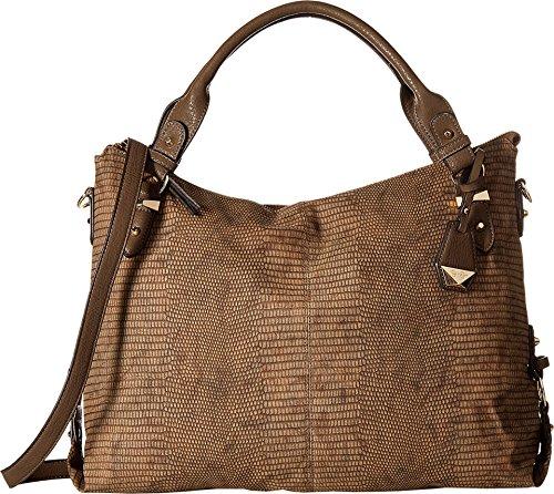 Jessica Simpson Mara Crossbody Tote Henna Snake Satchel Handbags