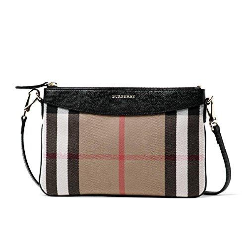 Burberry Peyton Black Check Handbag