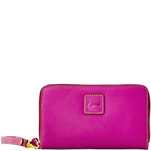 Dooney & Bourke Leather Wristlet Violet