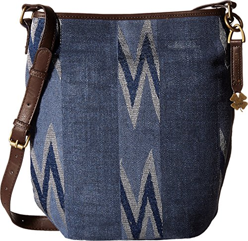 Lucky Brand Women's Bryn Bucket Navy Cross Body