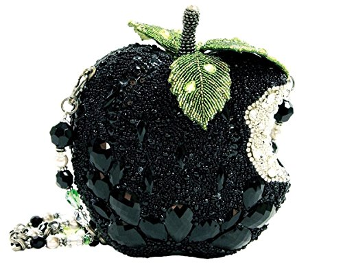 Mary Frances Wicked Black Apple Crystal Crystal Beaded Jeweled Handbag Shoulder Bag