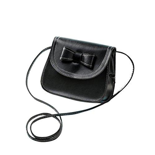 Laracca Women's Genuine Leather Cross body Bag Wristlet Handbag (Black)